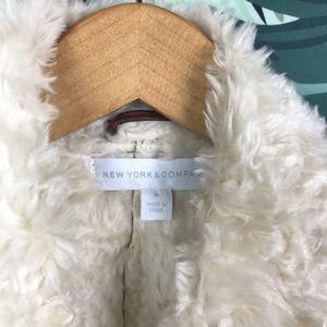 New York & Company Jackets & Coats - New York & Company | Faux Fur Leather Vest